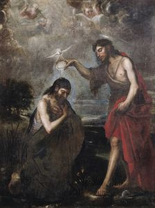 Order Art Reproduction : Baptism of Christ by Mateo The Younger Cerezo (1637-1666, Spain) | WahooArt.com