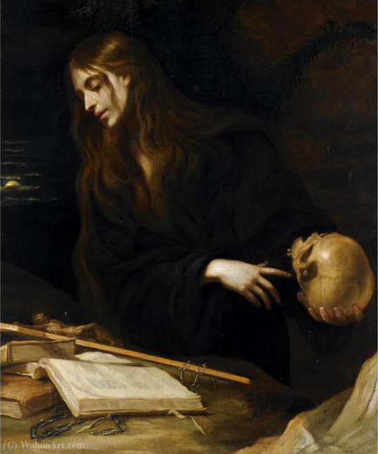Magdalena by Mateo The Younger Cerezo (1637-1666, Spain) | Museum Quality Reproductions | WahooArt.com