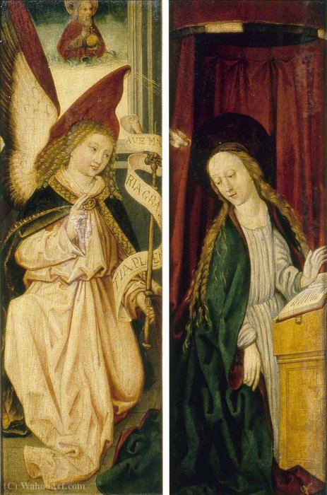 Order Reproductions | Triptych with the Nativity and Saints by Michael Wolgemut (1434-1519, Germany) | WahooArt.com