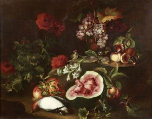 Michele Pace Del Campidoglio - Fruit, Flowers and Birds