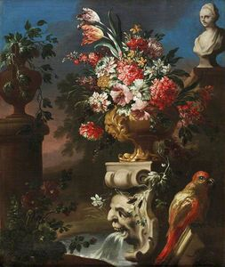Michele Pace Del Campidoglio - Still Life with a Parrot