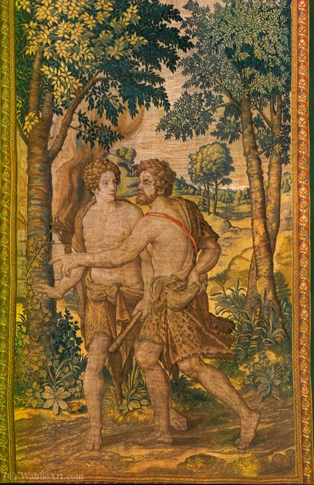 Cain and Abel by Michiel Van Coxcie (1499-1592, Belgium) | Reproductions Michiel Van Coxcie | WahooArt.com
