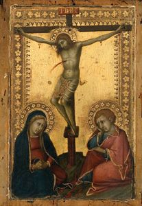 Naddo Ceccarelli - Crucified Christ with the Virgin and Saint John the Evangelist