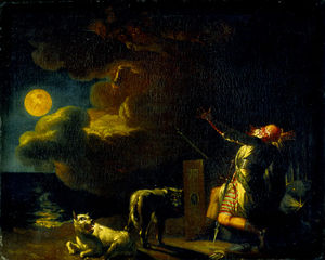 Nicolai Abraham Abildgaard - Fingal Sees the Ghosts of His Ancestors in the Moonlight
