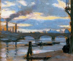 Norman Garstin - Battersea bridge
