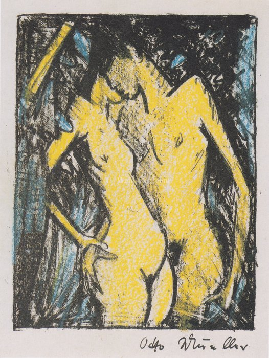 Standing couple by Otto Mueller (1874-1930, Poland) | Painting Copy | WahooArt.com