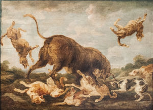 Paul De Vos - Buffalo Attacked by Dogs