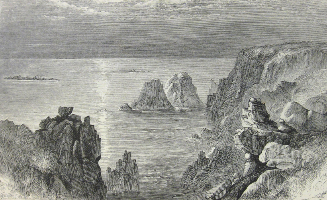 Illustration from Black`s Guide to the Channel Islands by Paul Jacob Naftel (1817-1891, United Kingdom) | Oil Painting | WahooArt.com