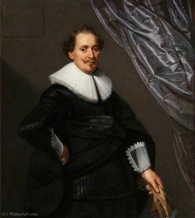 Portrait of an Unknown Gentleman by Paulus Moreelse (1571-1638, Netherlands) | Famous Paintings Reproductions | WahooArt.com