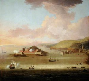 Peter Monamy - View of Castle Cornet and St Peter Port