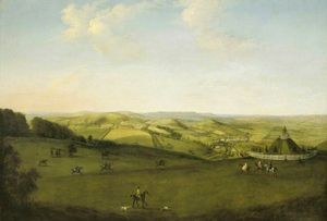 Peter Tillemans - A View over the Downs near Uppark