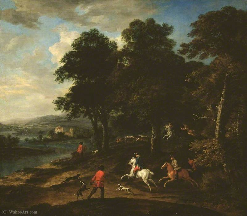 Foxhunting in Wooded Country by Peter Tillemans (1684-1734, Belgium)