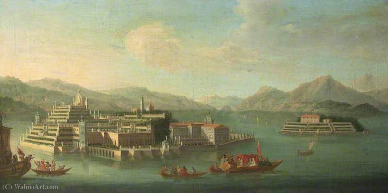 Isola bella, lago maggiore, italy by Peter Tillemans (1684-1734, Belgium) | Museum Art Reproductions Peter Tillemans | WahooArt.com