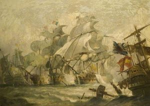 Philip Jacques De Loutherbourg - The Battle of Trafalgar, 21 October (1805)