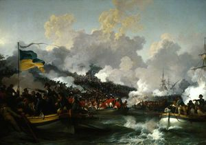Philip Jacques De Loutherbourg - The Landing of British Troops at Aboukir, 8 March (1801)
