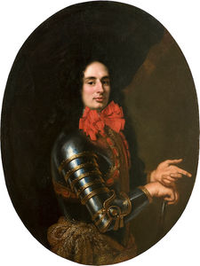 Pier Francesco Cittadini - Portrait of a Gentleman with armor and red scarf