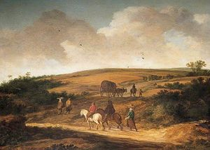 Pieter De Molyn - Landscape with Travelling Figures