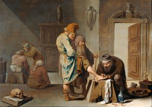 Pieter Jansz Quast - The foot operation.