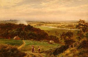 Robert Gallon - View from Cooper's Hill over Runnymede, with Windsor Castle in Distance