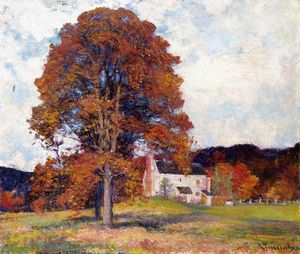 Robert William Vonnoh - Autumn hillside - my studio