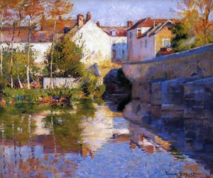 Robert William Vonnoh - Beside the River (Grez)