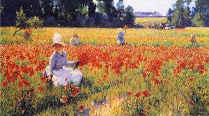 Robert William Vonnoh - In Flanders Field-Where Soldiers Sleep and Poppies Grow, Poppies
