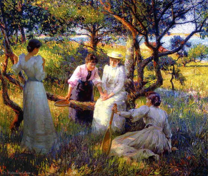 The ring by Robert William Vonnoh (1858-1933) | Paintings Reproductions Robert William Vonnoh | WahooArt.com