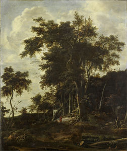 Roelandt Roghman - Wooded Landscape with woodcutters house