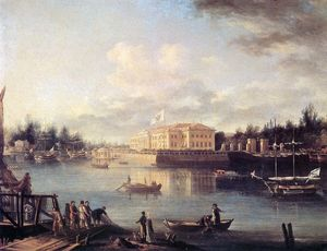 Semyon Fyodorovich Shchedrin - View of Kamenny Island and Palace in Saint Petersburg