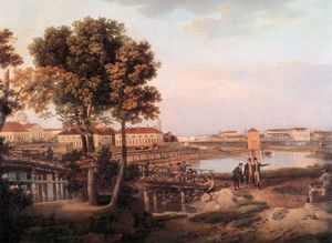 Semyon Fyodorovich Shchedrin - View of Petrovsky Island in Saint Petersburg