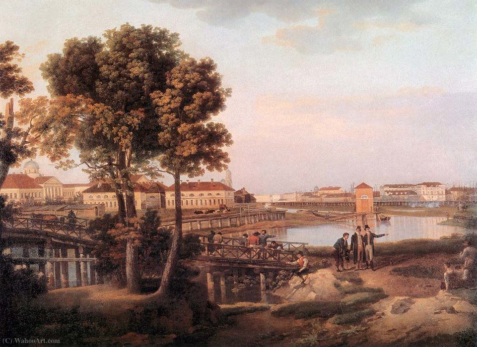 View of Petrovsky Island in Saint Petersburg by Semyon Fyodorovich Shchedrin (1745-1804, Russia)