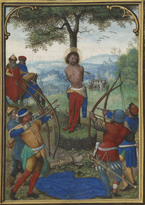 Simon Bening - Leaf from the Munich-Montserrat Hours