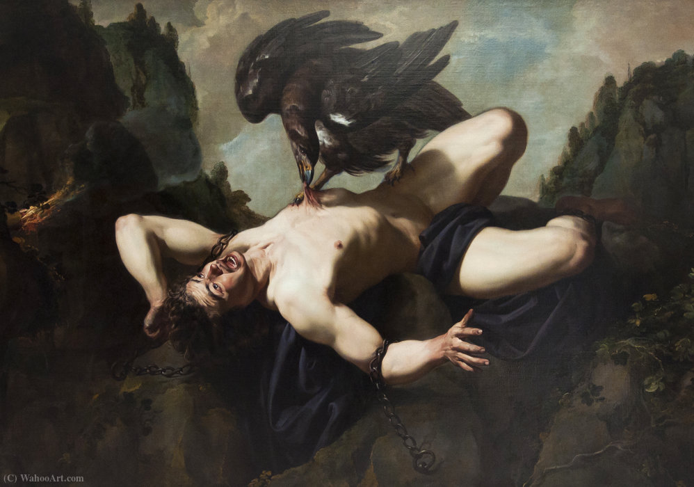 Prometheus by Theodor Rombouts (1597-1637, Belgium) | Oil Painting | WahooArt.com
