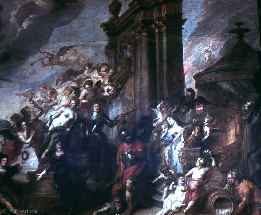 Order Art Reproduction : Allegory of the Peace of Oliwa in (1660) by Theodor Van Thulden (1606-1669, Netherlands) | WahooArt.com