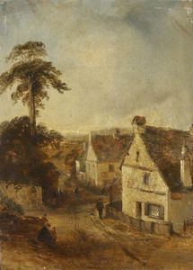 Order Art Reproductions | Ambleside as Seen from `The White Lion` by Thomas Colman Dibdin (1810-1893, United Kingdom) | WahooArt.com