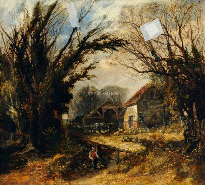 Landscape by Thomas Colman Dibdin (1810-1893, United Kingdom) | Museum Art Reproductions Thomas Colman Dibdin | WahooArt.com