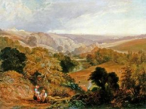 Thomas Miles Richardson Junior - Evening View on Heaton Dene, Lancashire, from an Eminence near Mable's Mill