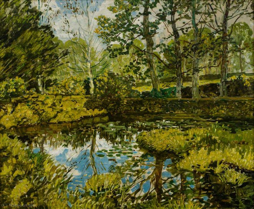 Lily pond, godolphin by Walter Elmer Schofield (1867-1944, United States) | WahooArt.com