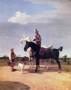 Wilhelm Von Kobell - Riders with two horses