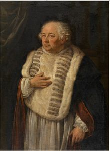 Willem Herreyns - Portrait of the Antwerp canon Antoon de Vries
