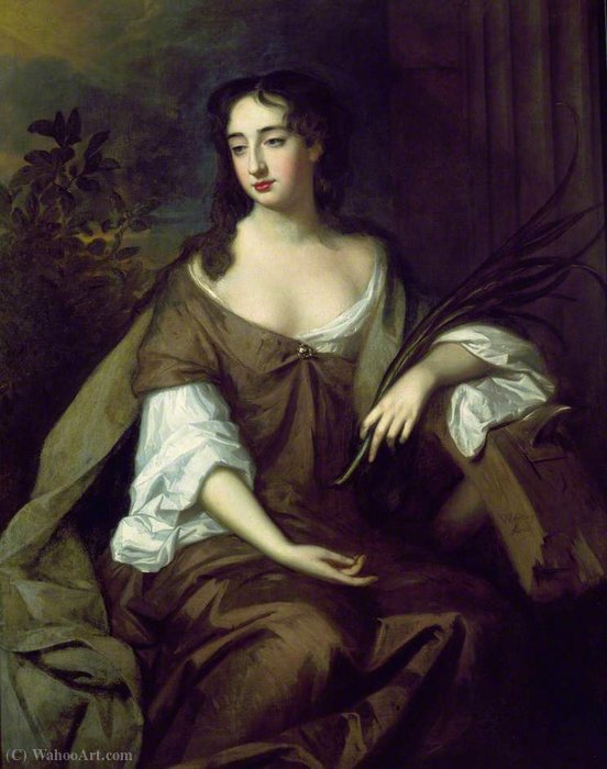 A Lady as Saint Catherine by Willem Wissing (1656-1687, Netherlands) | Painting Copy | WahooArt.com