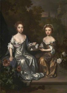 Willem Wissing - Portrait of Henrietta and Mary Hyde