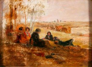 William Bell Scott - A Picnic at Hanwell