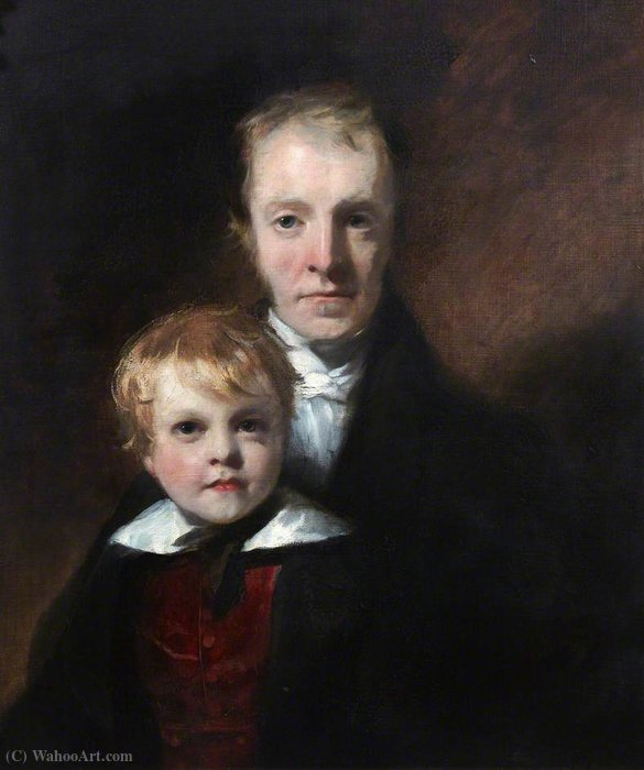 John Small and His Son by William Dyce (1806-1864, United Kingdom) | Paintings Reproductions William Dyce | WahooArt.com