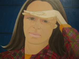 Alex Katz - Ada with Hand