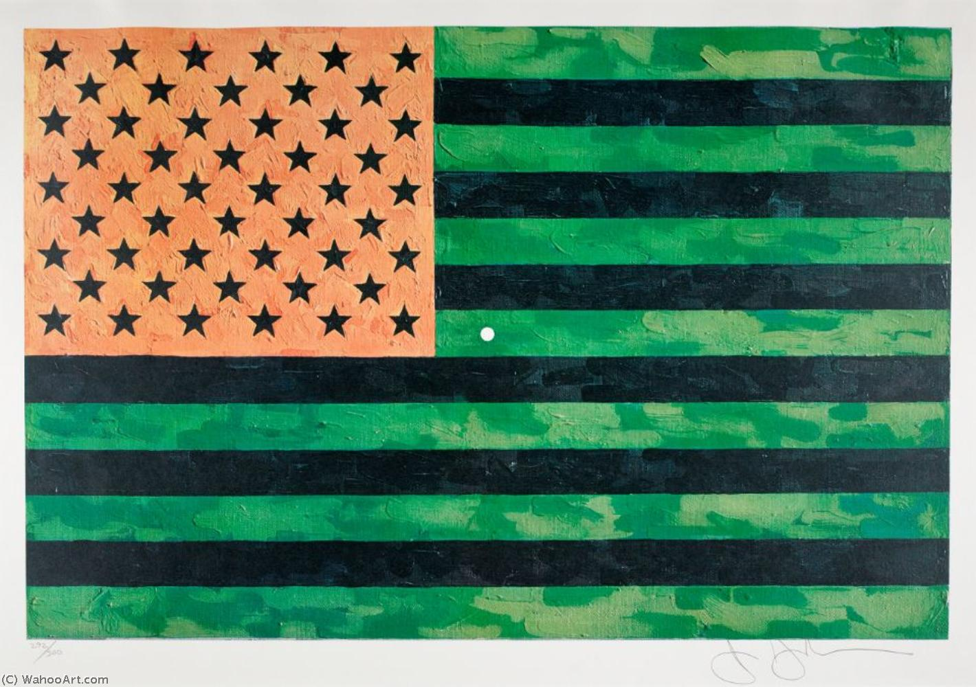 American flag by Corita Kent (1918-1986, United States) | Art Reproduction | WahooArt.com