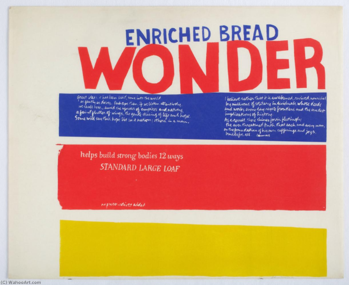 Enriched bread by Corita Kent (1918-1986, United States) | Oil Painting | WahooArt.com
