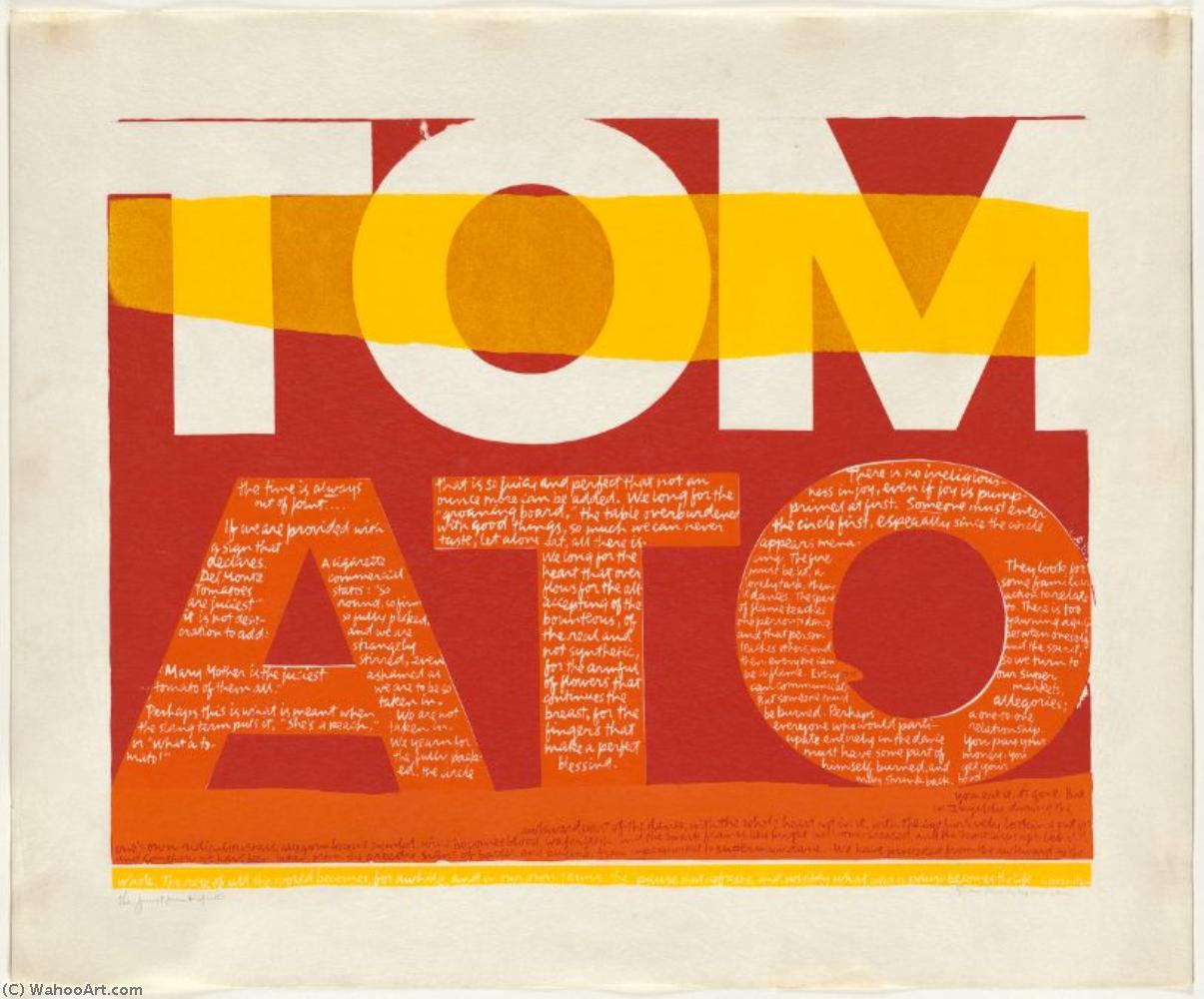 The juiciest tomato of all serigraph by Corita Kent (1918-1986, United States) | Oil Painting | WahooArt.com
