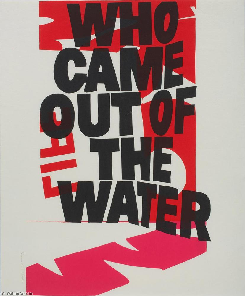 Who came out of the water by Corita Kent (1918-1986, United States) | Museum Quality Reproductions | WahooArt.com