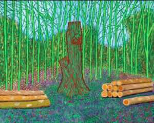 David Hockney - Arranged felled trees